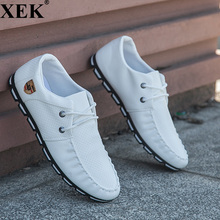 XEK 2018 New Brand Fashion Casual Sneakers For Men Soft Moccasins Men Loafers Leather Shoes Men Flats Gommino Driving Shoes JH97