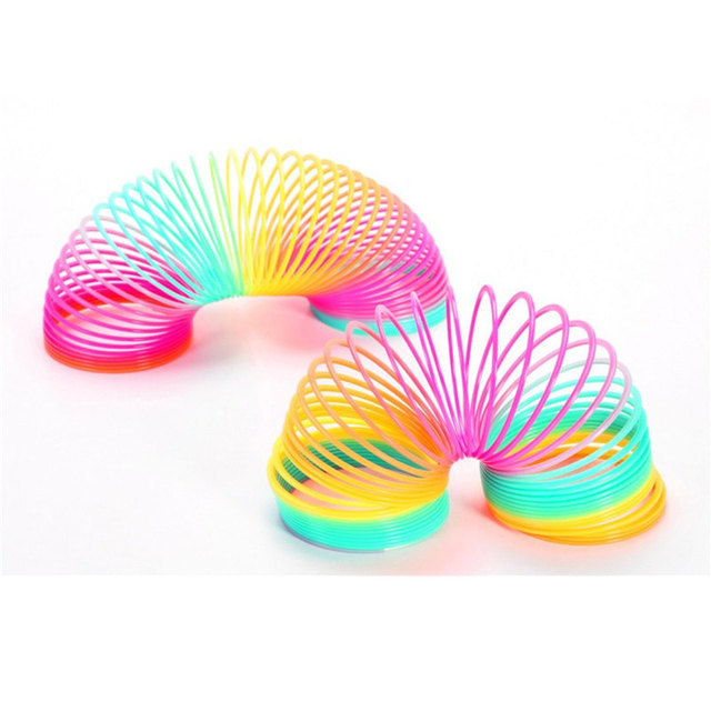 Magic Plastic Rainbow Spring Kids Toy 8.7*9cm Large Magic Colorful Funny Classic Toy For Children Gift Hot Sale 1