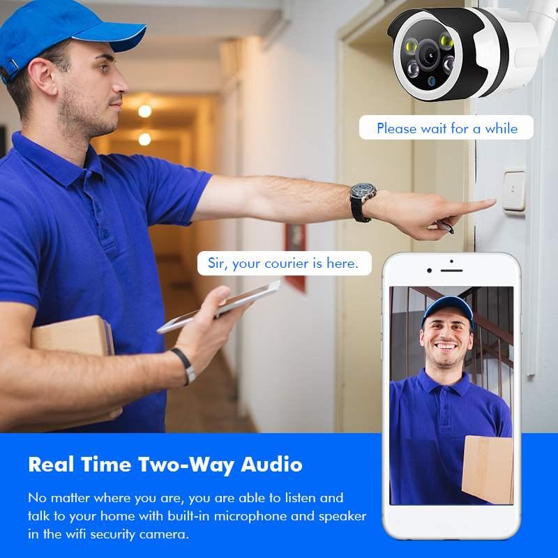 1080 P Wifi Wireless IP Überwachung Kamera Im Freien Sicherheit Kamera 98ft Nacht Vision/IP66 Wasserdicht/Cloud-Storage/ bewegung