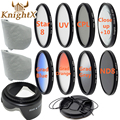 KnightX Close up Macro SLR Lens Filter set UV CPL FLD nd Kit for nikon d800  d5300 d7200 canon t5i  600d 1100d 52mm 58mm 67mm