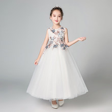 2018 children princess dress for party baby girl clothes 3 years white blaa  gown floral 12 e20c14edde9d