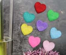 2000 шт 20 мм войлок форма сердца хлопковая ткань разных цветов