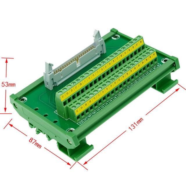 Peachy Idc40 Male To 40P Terminal Block Breakout Board Idc 40 Connector Plc Wiring Digital Resources Otenewoestevosnl