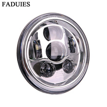 FADUIES Chrome 7″ Round Harley LED Projection Daymaker Headlight for Motorcycles Harley Street Glide FLHX Road King