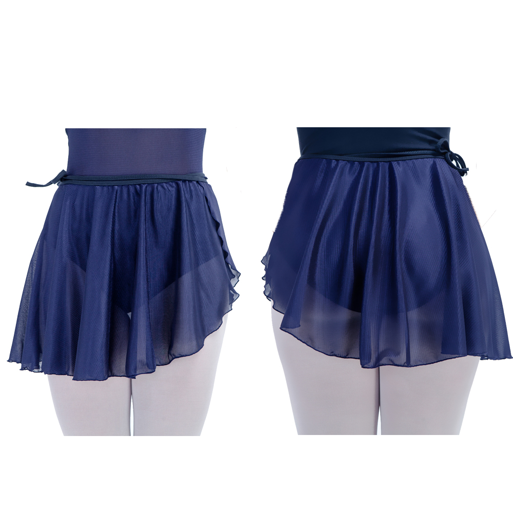 inlzdz Womens Asymmetric Chiffon Ballet Latin Wrap Skirt Ballroom Dancewear Ice Skating Skirt