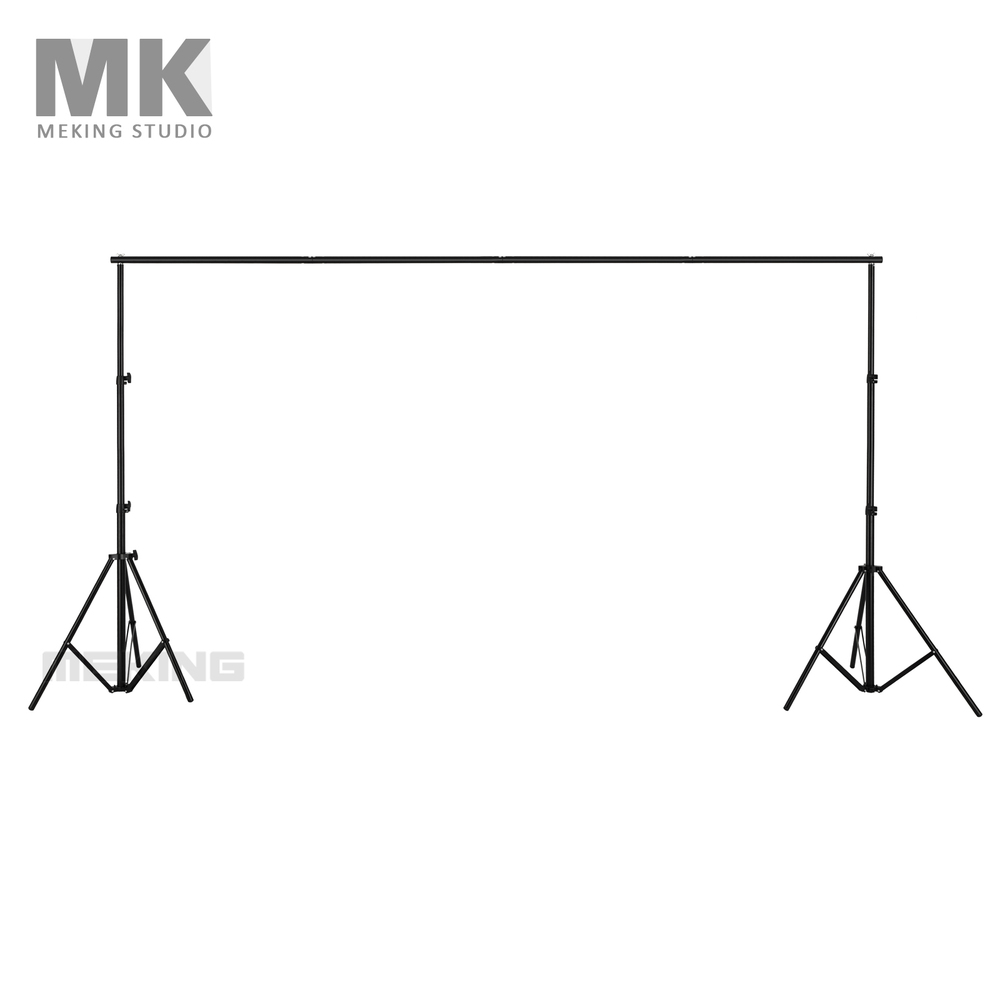 Meking Studio 2.8*3.2m Photography Backdrops Portable Muslin Background Support System 2 Stands + 1 light stand cross bar lightdow 2x3m 6 6ftx9 8ft adjustable backdrop stand crossbar kit set photography background support system for muslins backdrops