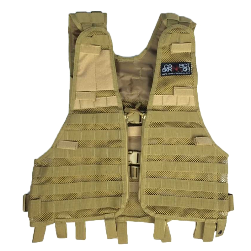 Molle Tactical Vest Outdoor Hunting CS Combat Battle Mesh Can Add Pouches Airsoft Paintball Gear