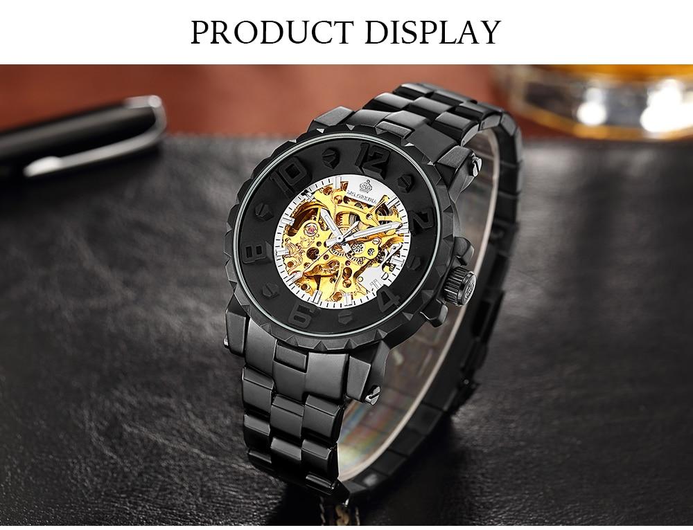 HTB1fJ.arUQIL1JjSZFhq6yDZFXa2 MG. ORKINA Men Wristwatch Golden Skeleton Clock Mechanical Male Wrist Watch Black Relogio Masculino Automatic Zegarek Meski