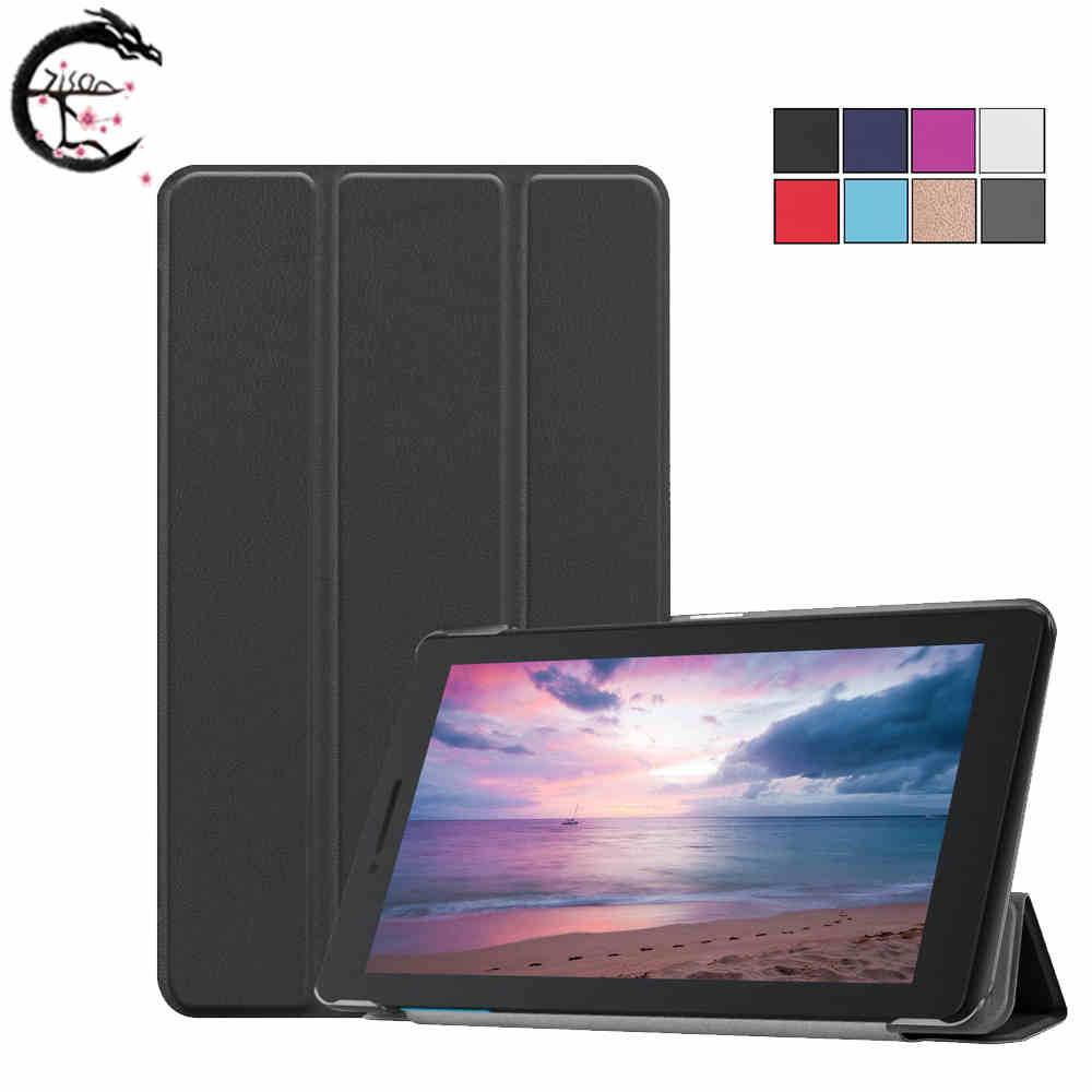 Magnetic Shockproof protection Tablet cover Case For <font><b>Lenovo</b></font> Tab E8 8.0 inch Slim Folding PU Leather <font><b>TB</b></font>-<font><b>8304F1</b></font> 8304 Stand Cover image