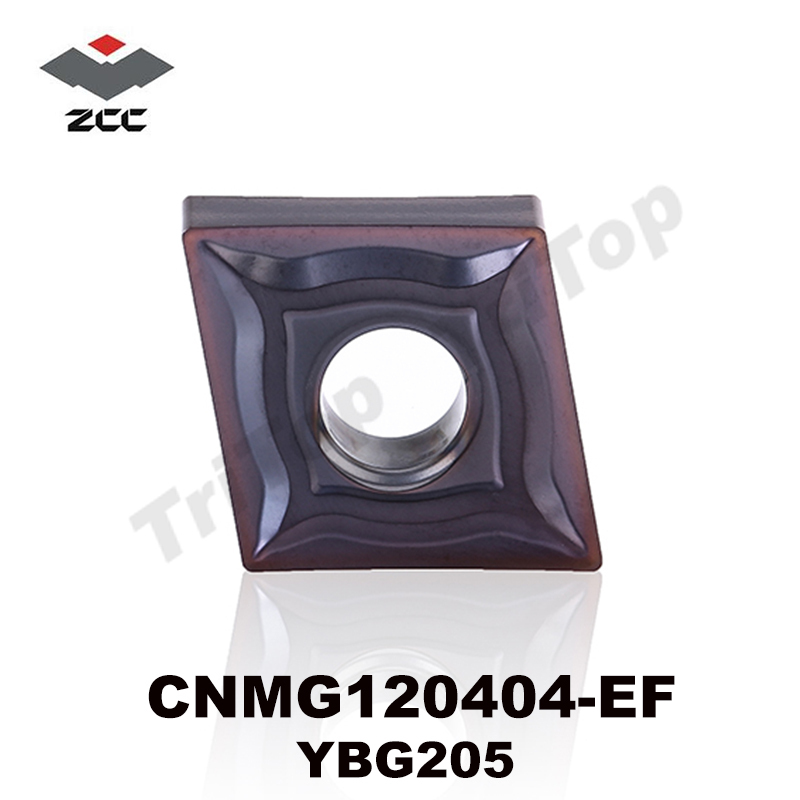 10 unids / lote venta caliente ZCC.CT YBG205 CNMG 120404 -EF insertos de torneado de carburo de tungsteno para mecanizado cnc CNMG431 CNMG120404