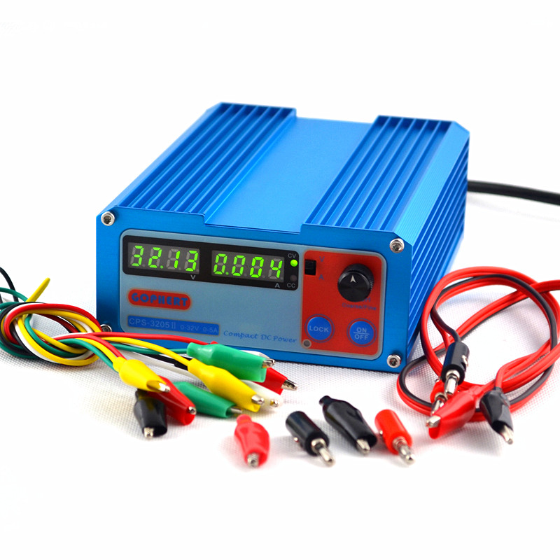 gophert cps 3205 ii - GOPHERT New CPS-3205 II 160W (110V220V Conversion ) 0-32V/0-5A,Compact Digital Adjustable DC Power Supply