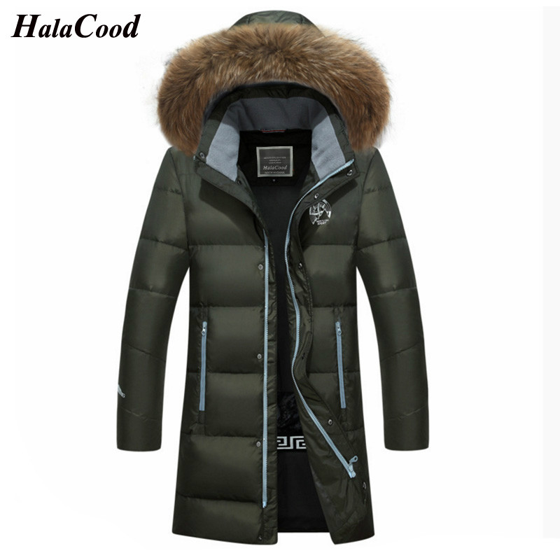 Fashion Winter Big Fur Hooded Duck   Down   Long Jackets Men Warm High Quality   Down     Coats   Male Casual Winter Outerwer   Down   Parkas