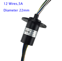 Wind Power Slip Ring 12 Wires 5A Slip Ring For Playground Equipment Spare Parts Diameter 22mm