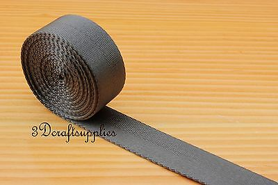 5 Yards 1 Inch ( 25mm ) Heavy Weight Nylon Webbing Ruban For Bag Purse Strap Handles ZA83