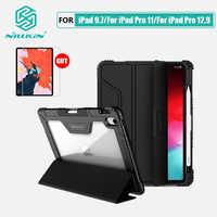 NILLKIN para iPad 9,7 caso iPad Pro caso cubierta para iPad 12,9 Pro 2018 Smart Flip cubierta de regalo soporte de lápiz Protector de pantalla