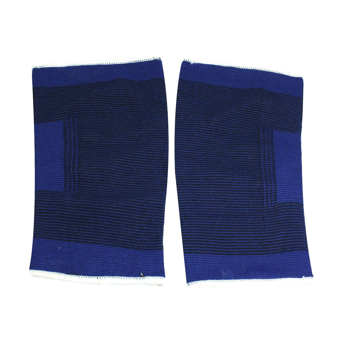 ELOS-Fitting Stretchy Black Blue Knee Sleeve Support Protector 2 Pcs