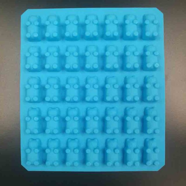 DIY 2017 Kitchen  Mold  Silicone Gummy Bear Molds For Chocolate Candy Molds and Ice Trays Decorating Baking Tool