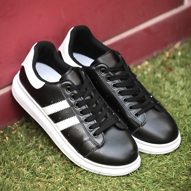 Manresar 2016 Men Casual Shoes Fashion Spring Autumn Unisex PU Leather Couples and Lovers Walking Shoes Plus Size 35-44