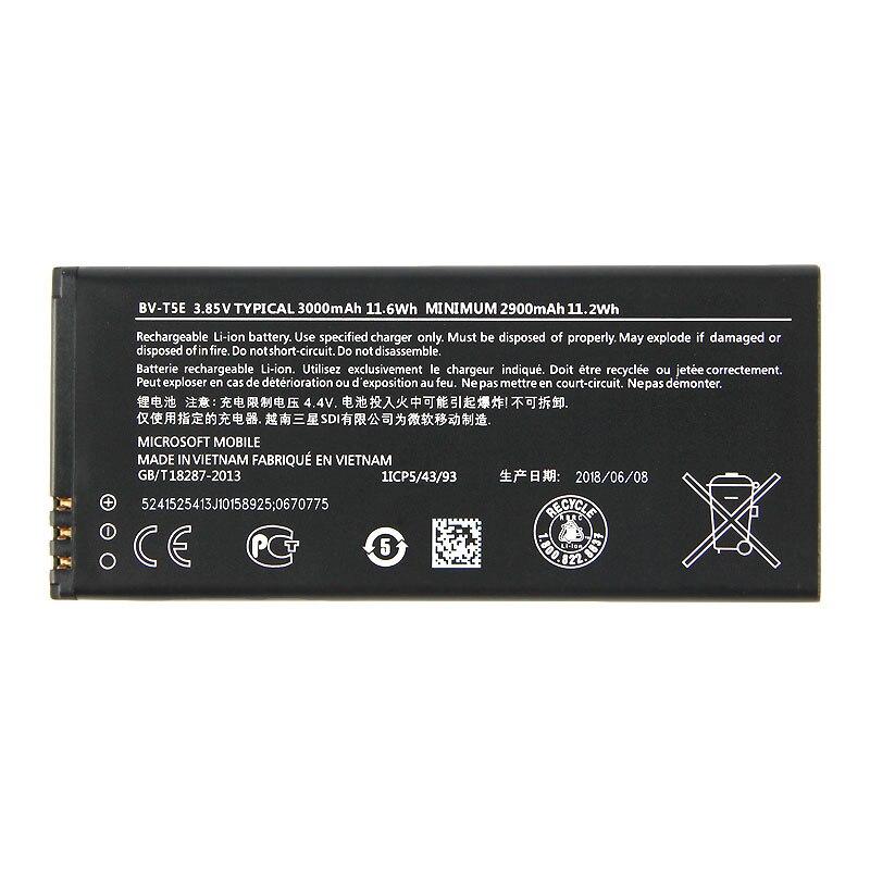 Original bateria do telefone para Nokia Lumia 950 RM-1106 BV-T5E RM-1104 RM-110 McLa BVT5E 3000 mAh