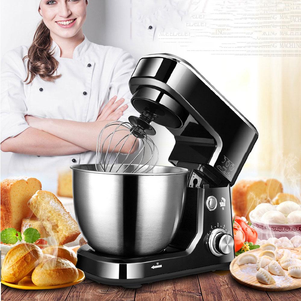 ITOP ELectric 4L Food Mixers Kitchen Mixer Machine With Egg Beater Dough Cream Maker 6 Speeds Blender