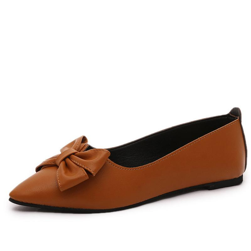 Women Flats Shoes Woman Loafers Summer Fashion Butterfly-knot Pointed Toe Shallow Sweet Flat Casual Women Shoes Zapatos Mujer sweet women high quality bowtie pointed toe flock flat shoes women casual summer ladies slip on casual zapatos mujer bt123