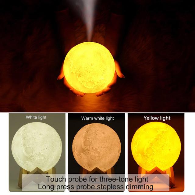 880ML 3D Moon Shaped Air Humidifier
