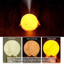Nawilżacz powietrza 3D w kształcie księżyca z funkcją lampki