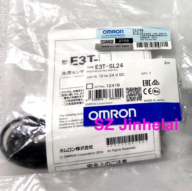 OMRON E3T-SL24 Authentic original Photoelectric switch  2M   12-24VDCOMRON E3T-SL24 Authentic original Photoelectric switch  2M   12-24VDC