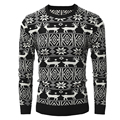 Christmas Sweater Men High Winter Warm Oversize Hip Hop Thick Design O-Neck Ugly Christmas Sweater With Deer pullover Tops 7718