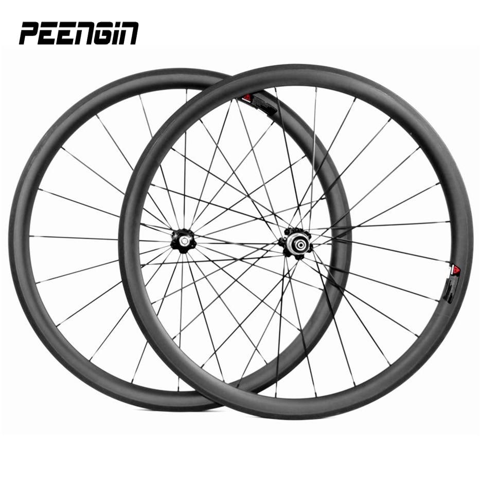 Custom decals wheel 700C 38/50mm carbon road wheelsets clincher bike tubular rim 23mm with novatec A271/F372sb hub taiwan spokes