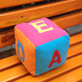 Newest English Alphabet Colored Children's Educational Toys Bell Cube Plush Toys Cognitive Toy Gift For Kids Hot Selling
