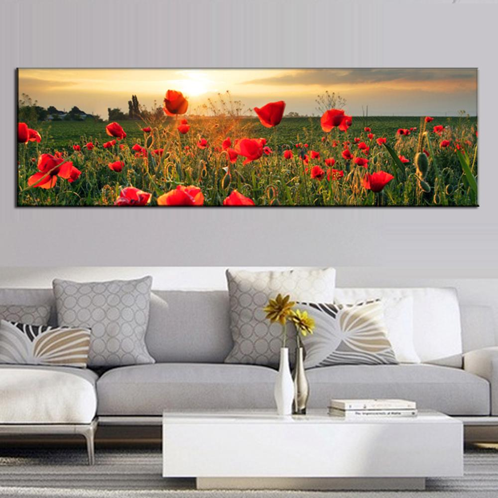 aliexpresscom  buy large canvas painting the flower fields  - aliexpresscom  buy large canvas painting the flower fields canvas wall artpicture wall art home decorative modern wall paintings from reliable art