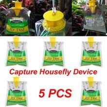 5 PCS Disposable Fly Trap Catcher Fly Catcher แมลงแขวนขายร้อน Pest Control สะดวกและในครัวเรือน