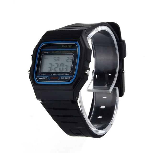 2018 Men Digital Watches Clock High Quality Fashion Colorful Jelly Ultra-Thin LE