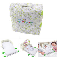 2019 Multifunctional Baby Crib Portable Foldable Baby Bed Travel Infant Cradle with Fitness Frame Mattress Pillow for Toddler