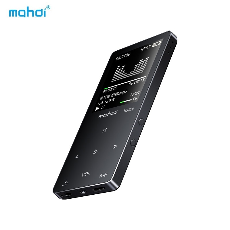 Mahdi MP4 Player Bluetooth 8G 1.8 Inch MP4 Touch HD Screen With Rechargeable Battery Support Video Music Recording Speaker FM TF
