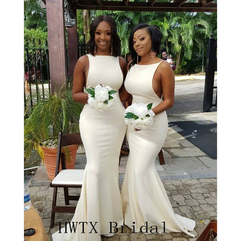 27934b5c5fb8 High Quality Sexy Mermaid Bridesmaid Dresses New 2019 African Arabic  Sleeveless Satin Plus Size Wedding Guest Dress Women Gowns-in Bridesmaid  Dresses from ...