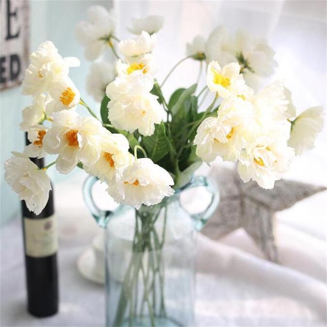 12 pieceslot artificial poppy fake flower bouquet 2 head wedding 12 pieceslot artificial poppy fake flower bouquet 2 head wedding party home decorative flowers mightylinksfo
