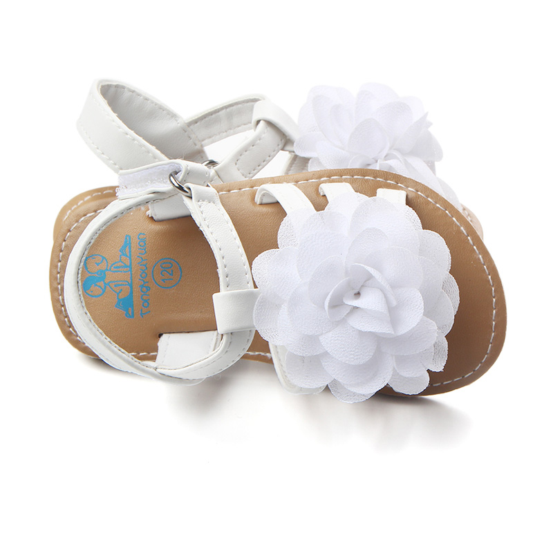 7300c21b3d10 Flower Fashion Design Baby Shoes PU Leather Vamp Flat And Hard Sole Baby  Girl Shoes For 0 15 Months-in Sandals   Clogs from Mother   Kids on  Aliexpress.com ...