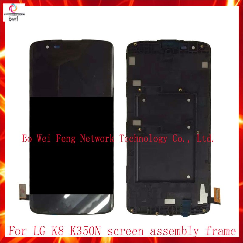 ФОТО 10Pcs DHL 100%Tested For LG K8 LTE K350N K350E K350DS LCD Display+Touch Digitizer Screen Sensor With Or no Frame Free Shipping