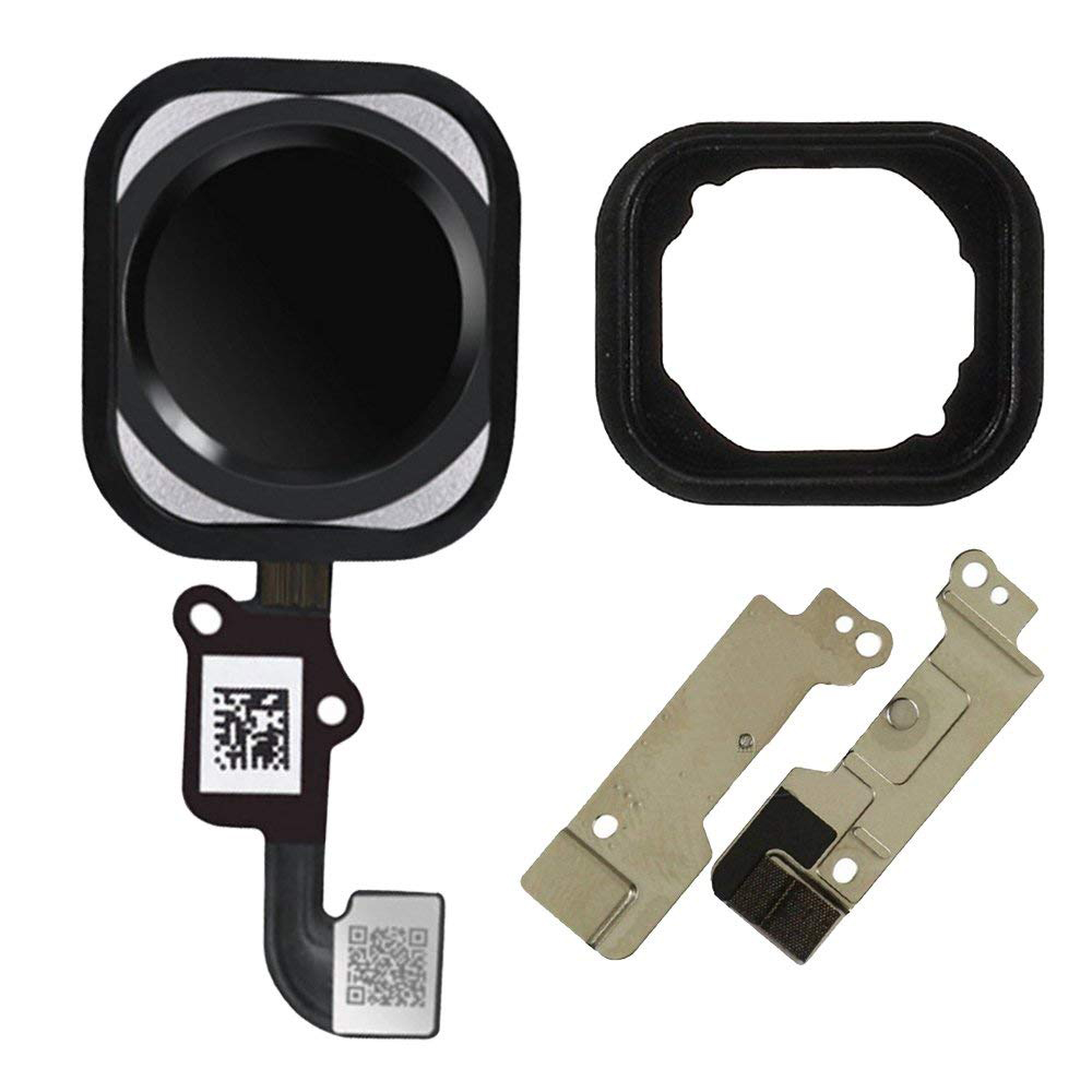 3pcs /lot Home Button Key Flex Cable Assembly With Rubber Ring Replacment Part For Iphone 6 And 6 Plus Home Button Flex
