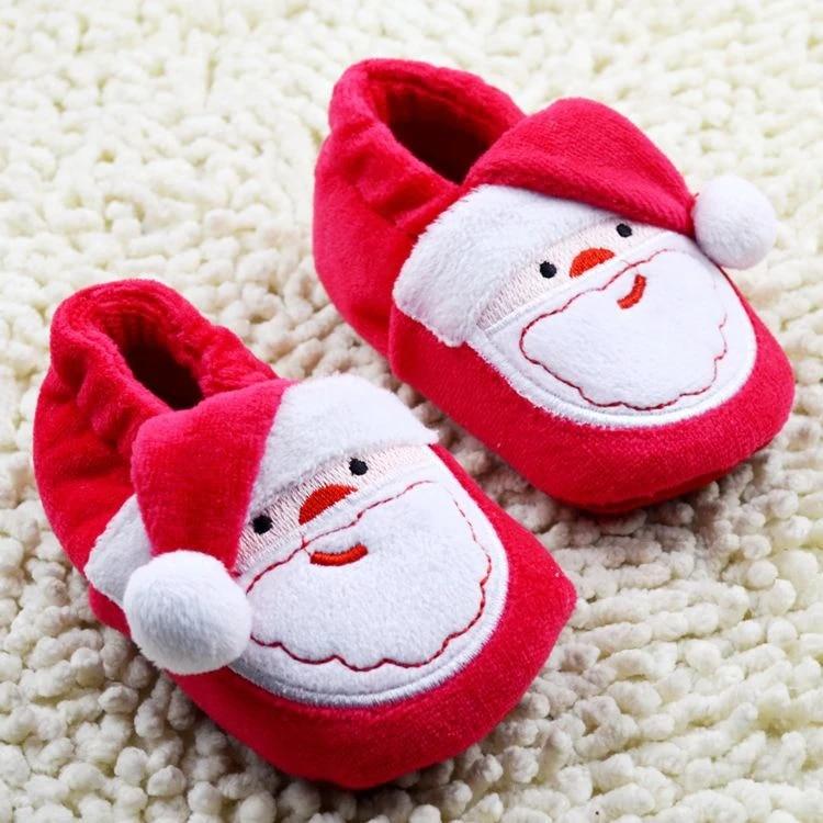 1Pair Ccarters Santa Claus Infant Jordan Shoes Newborn Christmas Baby Girls Boys First Walker Bebe Toddler Boots yeezy boost 350