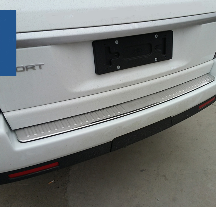 Stainless steel Rear bumper cover tailgate trim accessories For 2006 07 08 09 10 11 12 Land Range Rover Sport Chrome Styling