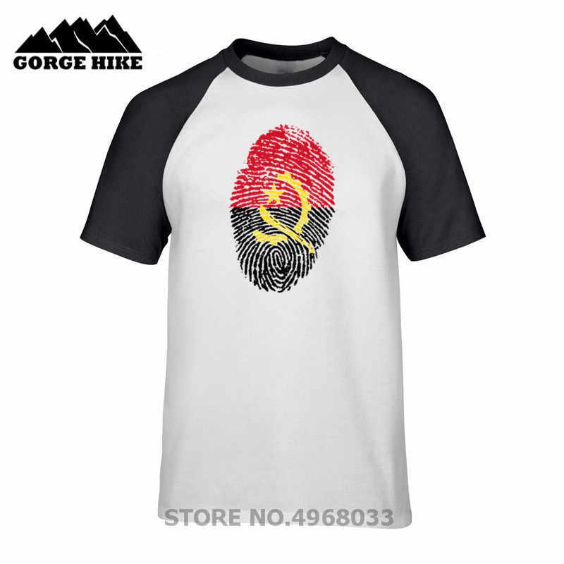 Country Flag Style Summer T Shirt Angola Fingerprint Birthday Gift