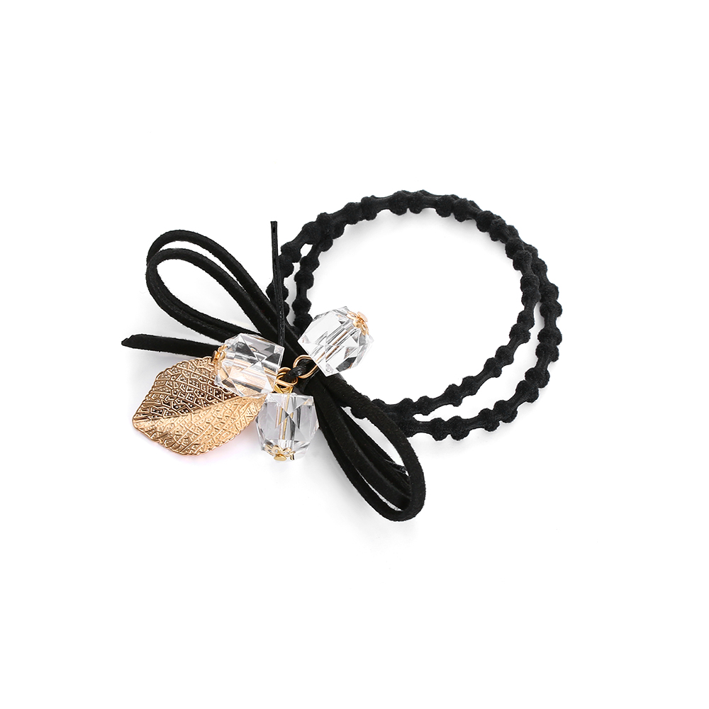 2PCS Women Girls Fashion Flower Pearls Hair Elastic Rope for Women Girls Elastic Hair Bands Horsetail headdress hair accessories