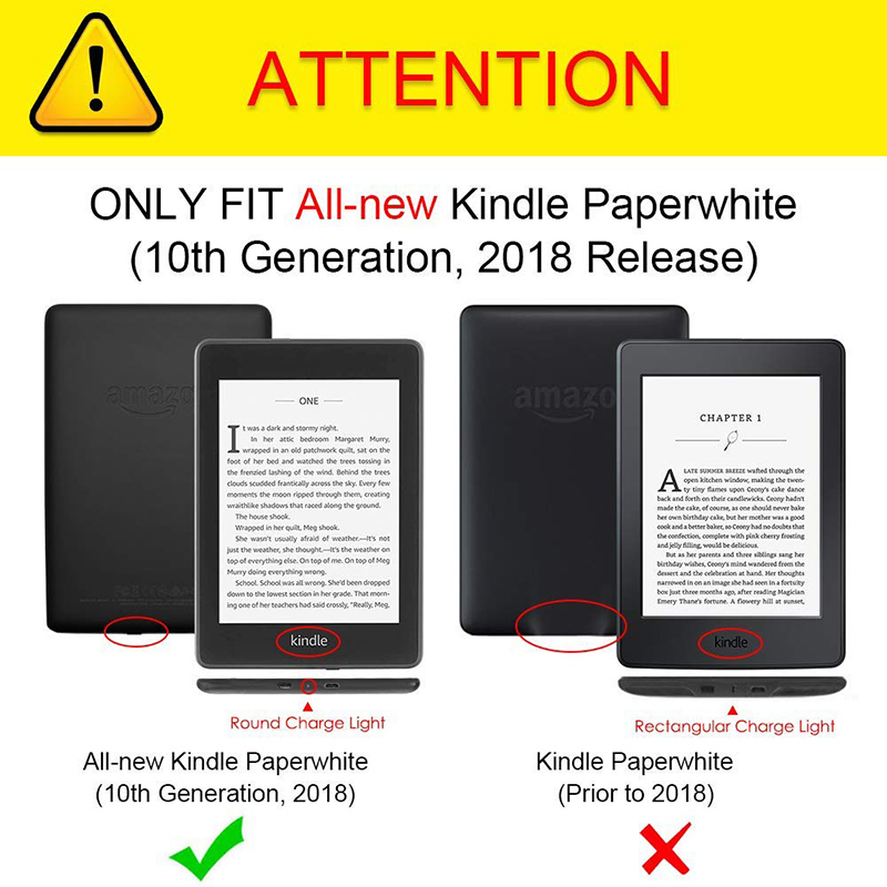 BOZHUORUI Cover Case fits New Kindle Paperwhite 4 e-Books (10th Generation-2018 Release) Handheld Portable Sleep Wake Cover