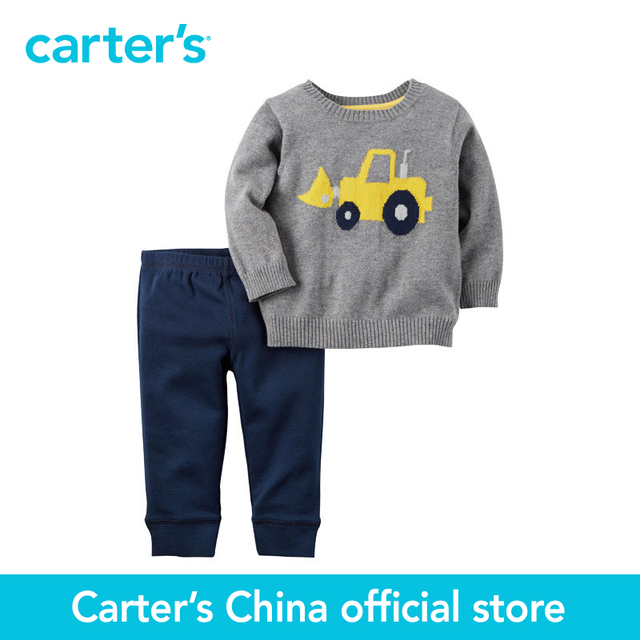 Картера 2 шт. детские дети дети Свитер и Брюки Набор 121G854, продавец картера Китай официальный магазин