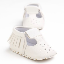 Free Shipping Baby Shoes With Fringe Baby Shoes Leather Toddler Infants Newborn Shoes Soft First Walker For Kids