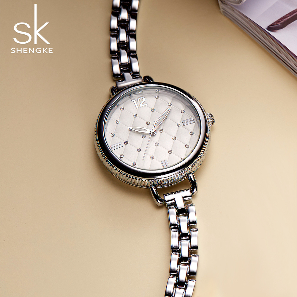 Shengke Brand Fashion Women Watches Luxury Quartz Ladies Gold Bracelet Watches Relogio Feminino 2018 SK Wrist Watch