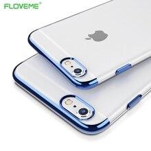 Фотография FLOVEME ipone 7 Case Original For iphone 7 Plus Case Silicone Frame Transparent Backplane Cover Luxury Slim Phone Shell  Capa
